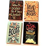 MACRO Book lover Magnetic Bookmark -Set of 4