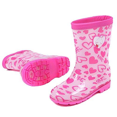 Zhuhaixmy Neu Kleinkind Rain Snow Boots Regen Stiefel Jungen Mädchen Wasserdicht Rain Shoes Boots Anti-slip Regen Schuhe Anti-rutschend Pink