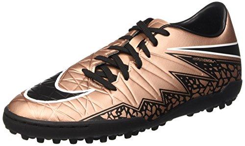 Nike  Hypervenom Phelon II TF, Chaussures de foot pour homme Brown / Noir / Vert / Blanc (MTLC BRNZ Rd / Blk-Grn GLW-Blanc)