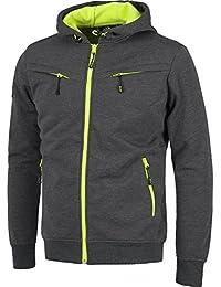 Sweat Shirt à Capuche Homme - Noir Orange