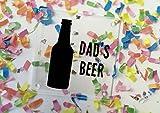 MONOCHROME Bier personalisierbar Acryl Untersetzer klar oder weiß erhältlich–dd347 farblos