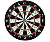 Playking Flocking Thickened Dartboard Darts Disk 42cm Diameter with 6 Dart Needles, Multicolor