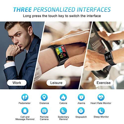 Kospet Smartwatch, Impermeable Reloj Inteligente con Podómetro/Contador de Calorías/Pulsómetro/Monitor de Sueño/Notificación Llamada y Mensaje, Pulsera para Mujere Hombre Compatible con Android y iOS