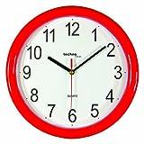 Technoline WT 600 - Reloj de Pared (Movimiento de Cuarzo), Color Rojo