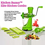 Kitchen Bazaar Elite Plastic Manual Citrus Juicer Set, Set of 3, Green