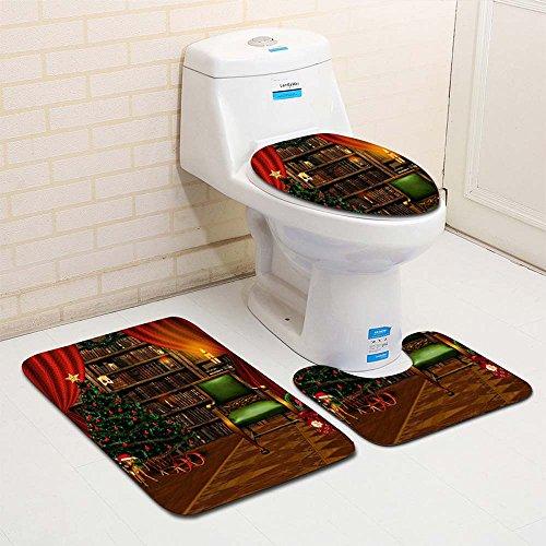 Malloom 3pcs Toilet Set Decoración Baño Navidad