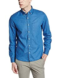 GAP Mens Casual Shirt (140719500030_17859142801_Large_Medium Indigo 25)
