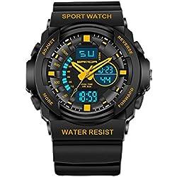 Student multifunktionale elektronische Uhren leuchtender Herren Uhren wasserdicht laufen im freien Wandern Uhren Modeuhren