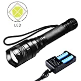2400 Lumen Taktische Taschenlampe Extrem Hell M6 LED XHP50 ProTac LED Torch Focus Adjustable Wasserdicht with 18650 Akku and USB Ladegerät Charger Set