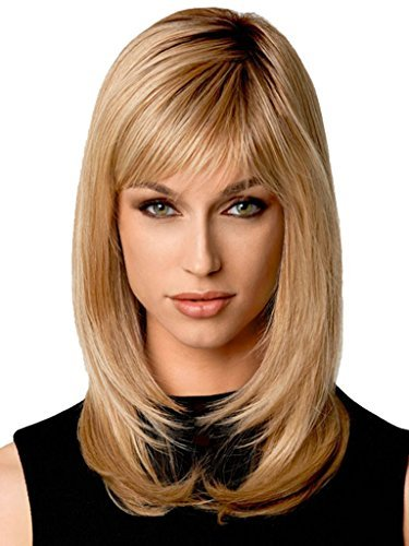 Beauty Smooth Hair Mode Stylish Lang Ingwer Blonde Gerade Haar Perueckes fuer Frauen LC51