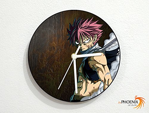 Fairy Tail - Natsu Dragneel (Salamander) - Dragon Slayer Magic - Wizards Guild - Japanese Anime - Custom Name Wall Clock