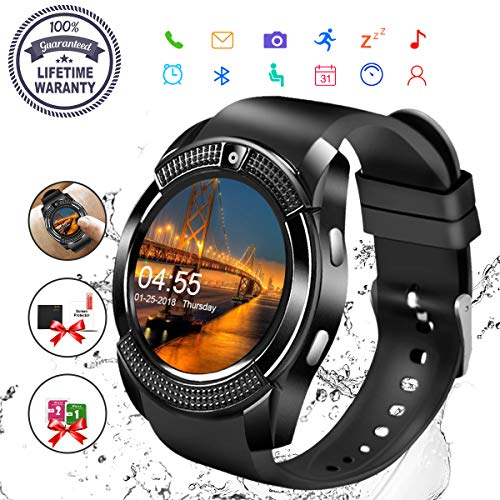 Smartwatch, Android Sport Smart Watch Donna Uomo Orologio Smartwatch Android con SIM Card Slot Fotocamera Orologio Intelligente Phone Watch Sport Tracker di Fitness per Samsung Huawei Bambini