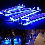 12V Auto dekorative Leuchten Lade-LED Auto Atmosphere Innenaustattung Boden Dekoration-Lampe 4 in 1 (Blau)
