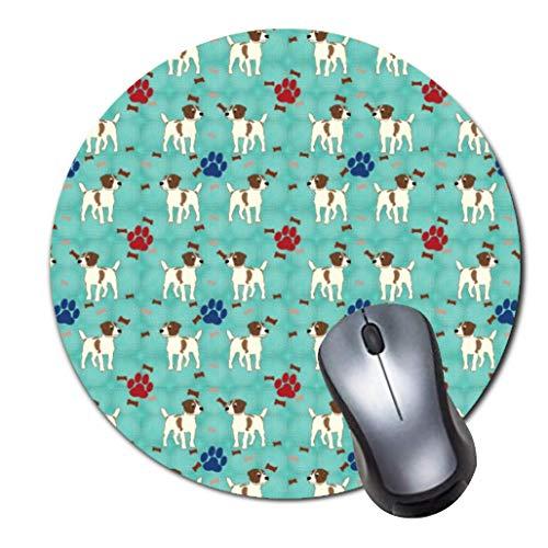 Mauspad,kleines,rutschfestes Mousepad auf Gummibasis mit aktualisiertem,vern?htem Rand,Office-Mauspad f¨¹r M?dchen,Desktop-Zubeh?r,runde Mausunterlage-cartoon jack russell terrier small gift bag -