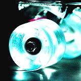 Wonnv - Ruote con illuminazione, set di 4 unità, per skateboard...