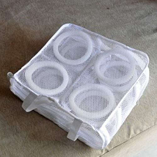 MachinYesity Appeso Dry Sneaker Mesh Sacchetti di Lavanderia Scarpe Protect Wash Bag Home Storage Organizer per Lavatrice Forniture (Bianco)