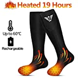 Beheizte Socken für Männer und Frauen, elektrische beheizte Socken, batteriebetriebene Socken für Camping/Angeln/Radfahren/Motorradfahren/Skifahren