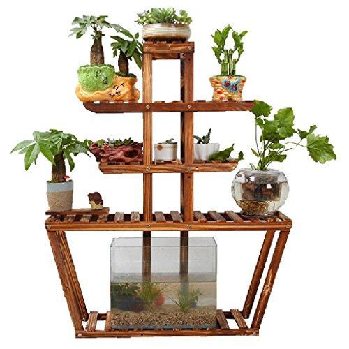 Chairs FL Blumenständer/Pflanzenstand Antike mehrschichtige Naturholz Indoor/Outdoor Blume Stand...