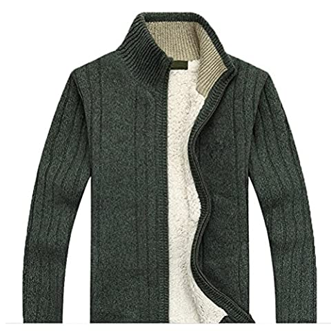Zhhlaixing Classique Winter Mens Warm Sweatshirts Plus Thick Velvet Sweater Outerwear