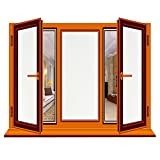 RH Art Fensterfolie Selbsthaftend Sichtschutz Blickdicht Milchglas Selbstklebend Mattiert, 90 x 200cm