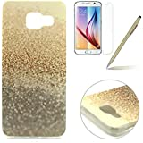 Samsung Galaxy A3 (2016) Silicone Case,Samsung A3 Coque - Felfy Gel Soft Souple Coquille de Ultra-thin Ultra-Light Mince Slim Couvrir Protector Housse Couverture Coloré Motifs Peint Protection TPU Case Cover (Désert) +1 x Or Stylus + 1 x Screen Protector