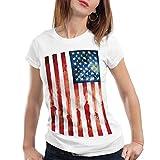 style3 Blood and Tears, Stars and Stripes Damen T-Shirt usa flagge banner vereinigte staaten von amerika us, Größe:M