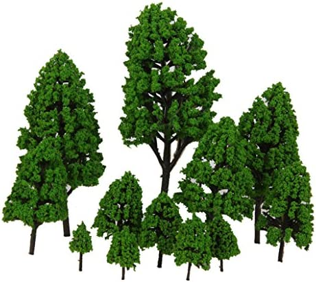 12pcs Laisse Peupliers Modele Feu Feu Feu Vert 2.5-16cm 1: 500-1: 50   La Fabrication Habile  15a75e