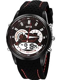 Los relojes de los hombres al aire libre impermeable relojes deportivos escalar montañas reloj multifunción de la exhibición dual-C