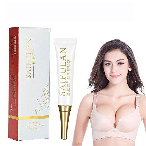 Brustvergrößerung Essenz, 2PCS Büste vergrößernde Creme Brust Firming und Lifting Cream natürliche Brustvergrößerung