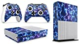 Gizmoz n Gadgetz Xbox One S Electric Storm Console Skin Decal Sticker + 2 Xbox One S Controller Skins & Kinect