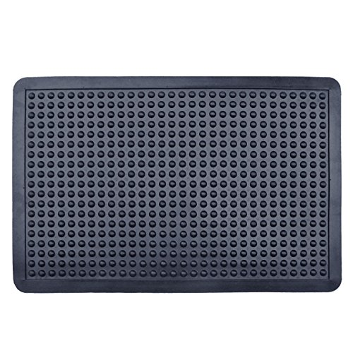 FRPL Rubber Anti Fatigue Bubble Mat - 60x90cm, Black