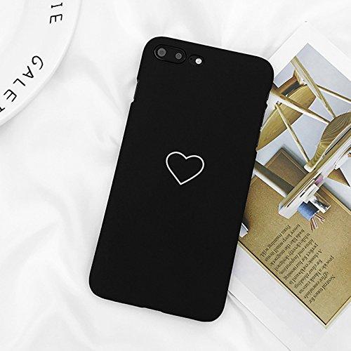 8 8 Plus Telefon Fall Nette Liebe Herz Druck Zurück Abdeckung Harte PC Cases Coque Für iPhone X 7 6 6 S Plus 5 5 S SE, Schwarz, Für iPhone 8 Plus ()