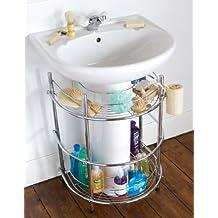 estantera de de cuarto de bao para bajo el lavabo cromo lavabo