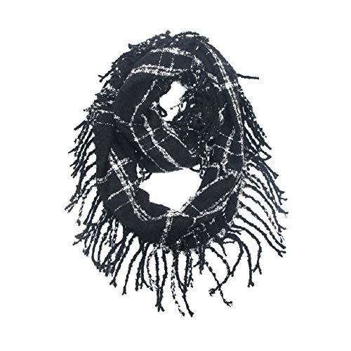 Shennanji coperta classica scozzese invernale sciarpa invernale in cashmere grid warm tartan wrap classic scialle sciarpe cape (color : black, size : 31-1/2 x 11-7/8 inch)