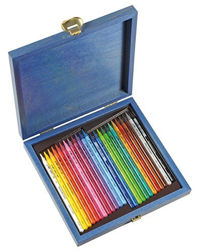 koh-i-noor-progresso-woodless-coloured-pencil-set-in-wooden-box-set-of-24