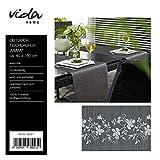 Tischläufer Miami 40x150 cm verschiedene Farben Farbe Ranke Anthrazit-Grau