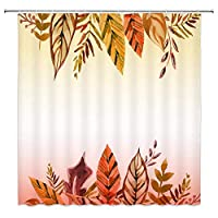 SuyuttiER Leaf Shower Curtain Decor Colorful Leaves Bathroom Curtain 70 X Es Waterproof Polyester Fabric Machine Washable With 12pcs Hooks 66x72 Inch