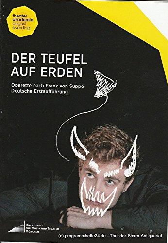 Programmheft Der Teufel auf Erden. Operette nach Franz von Suppe Premiere 01. Juli (1 Elizabeth Kostüm)