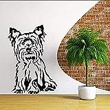 Stickers muraux Yorkshire Terrier Chien Vinyle Sticker Animal Thème Sticker Mural Pet Shop Décoratif Terrier Chien Peinture Murale Vinyle Art 30x42 cm