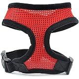 QHGstore Seguridad del animal doméstico del arnés Fácil control de malla chaleco correa del pecho correas del cinturón rojo XL
