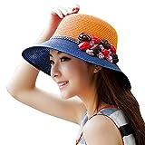 Cappello da sole estivo da Donna Witery a tesa larga Cappelli da sole  Spiaggia Cappello parasole 4c77acff49dc