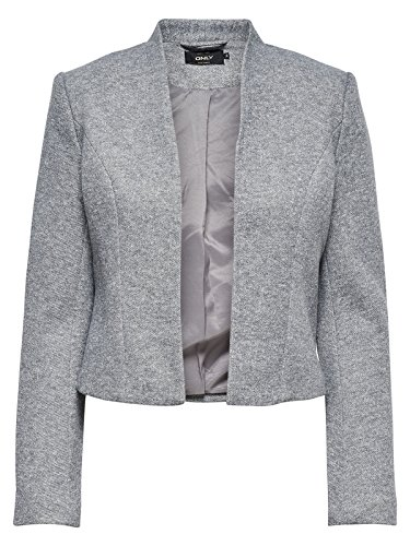 ONLY Damen Onldonna Ricks Short L/S Blazer Tlr Light Grey Melange