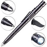 VisorTech Stift: 5in1-Tactical Pen mit Kugelschreiber, LED, Glasbrecher & Brieföffner...