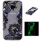 BONROY® Coque pour Samsung Galaxy A5 (2017) A520, Bling strass Etui Housse de Protection Nuit Luminous Glow Series Transparente Silicone Case Cover Souple TPU Ultra Mince Coquille Anti-scratch Anti Choc Bumper