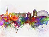 Posterlounge Forex-Platte 130 x 100 cm: Leicester-Skyline von Editors Choice