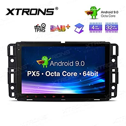 XTRONS-8-Android-Autoradio-mit-Touch-Screen-Android-90-Octa-Core-Autostereo-untersttzt-4G-WiFi-Bluetooth-4GB-RAM-32GB-ROM-DAB-OBD2-CAR-Auto-Play-TPMS-Funktion-FR-ChevroletBuickGMCHummer