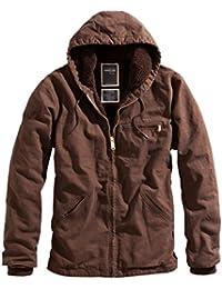 Surplus Parka stonesbury cintura longitud con capucha ejército estilo chaqueta de forro polar