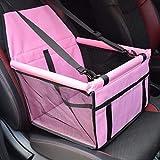 ZJEXJJ Hunde-Autositz Upgrade Deluxe Tragbarer Haustier-Kindersitz mit Clip-On-Sicherheitsleine und Hundedecke, ideal für kleine und mittlere Haustiere, Pink (Farbe : Pink, größe : One Size)