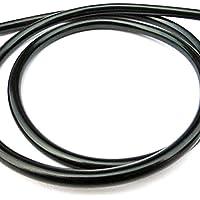 Alta calidad universal de la moto de la línea de tuberías de combustible Gasolina 5 mm x 8 mm O/D de 1 m de largo Negro Regard