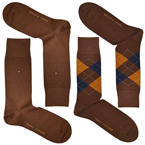 Tommy Hilfiger calzini da uomo in cotone check (Confezione da 2) Art EU43-46